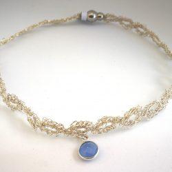 Collar Ganchillo de plata