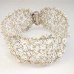 Pulsera perlas plata