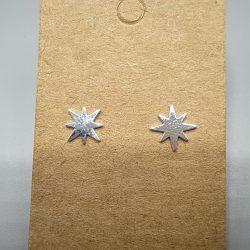 Pendientes Plata Estrella Polar