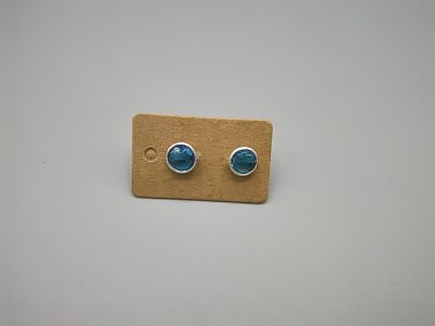 Pendiente Plata minerales 6 mm